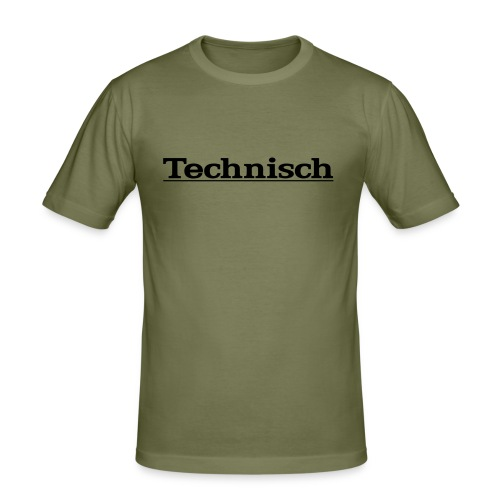 technisch - Mannen slim fit T-shirt