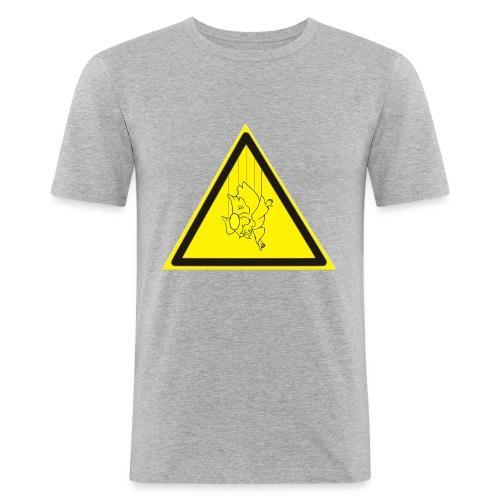 pericolo-caduta-santi - Maglietta aderente da uomo