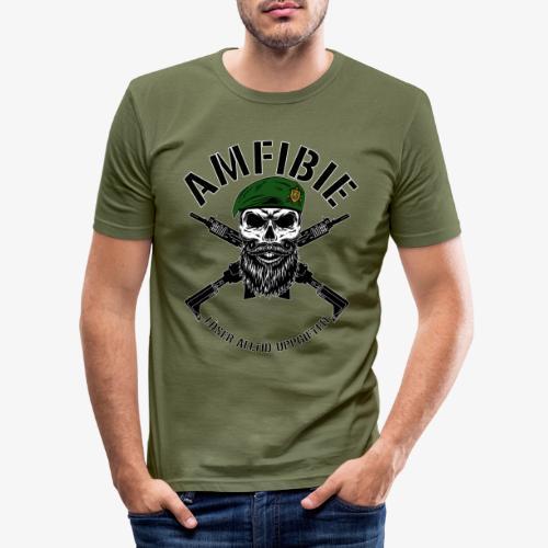 AMFIBIE - Korslagda Ak 5C - Slim Fit T-shirt herr