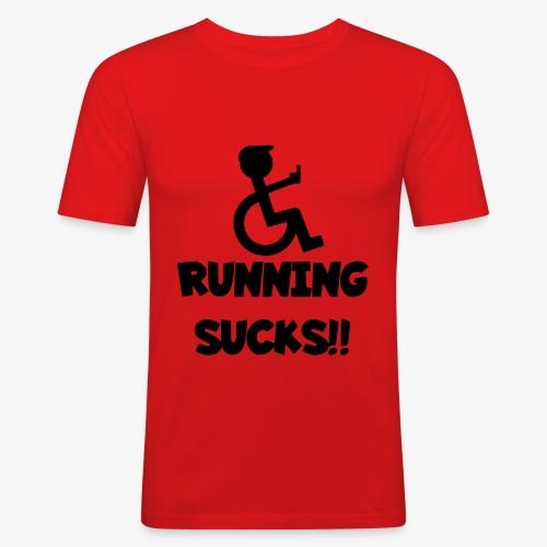 Rolstoel gebruikers haten rennen - Mannen slim fit T-shirt
