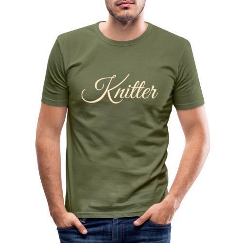 Knitter, tan - Men's Slim Fit T-Shirt