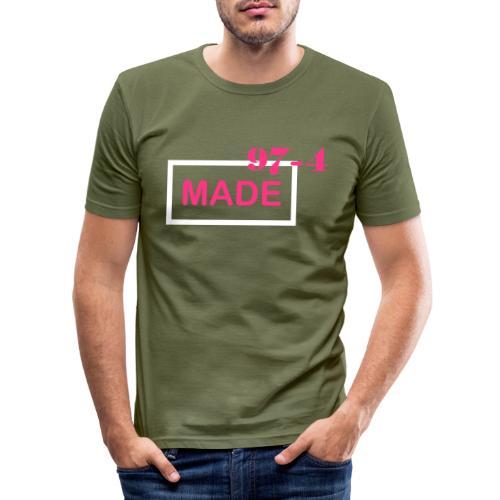 Design made in 974 - T-shirt près du corps Homme