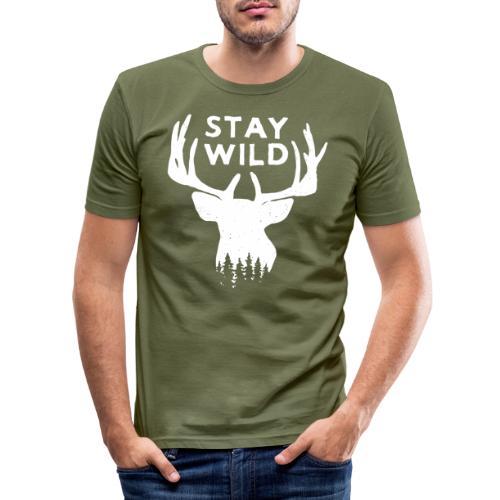 Stay Wild Logo - Maglietta aderente da uomo