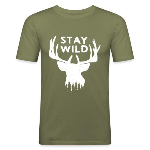 Stay Wild - Maglietta aderente da uomo