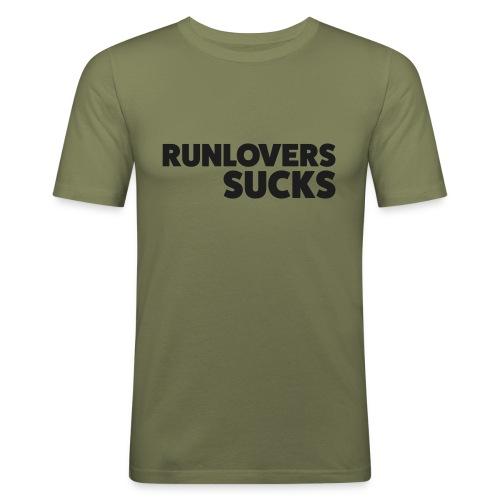 Runlovers Sucks - Maglietta aderente da uomo