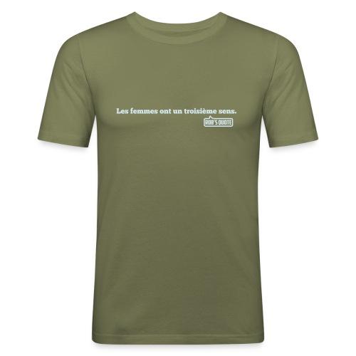 sens png - T-shirt près du corps Homme