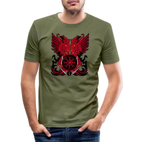 vikings - Maglietta aderente da uomo
