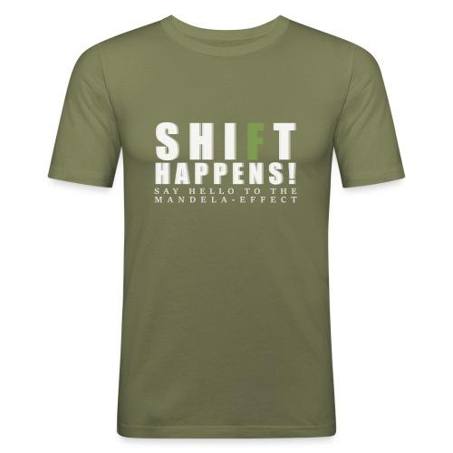 Shift Happens - say hello 2 - Männer Slim Fit T-Shirt