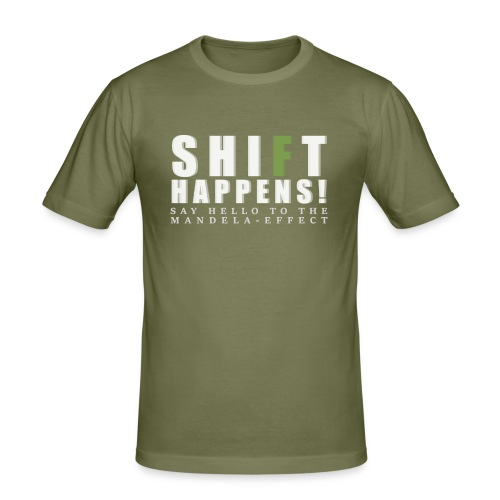 Shift Happens - say hello 2 - Männer Slim Fit T-Shirt