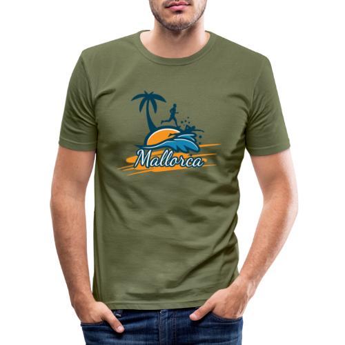 Joggen auf Mallorca - Sport - sportlich - Jogging - Männer Slim Fit T-Shirt