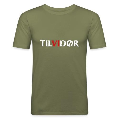 TILVIDØR LOGO - Herre Slim Fit T-Shirt
