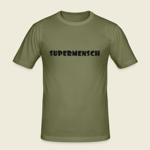 Supermensch in schwarz 2 - Männer Slim Fit T-Shirt