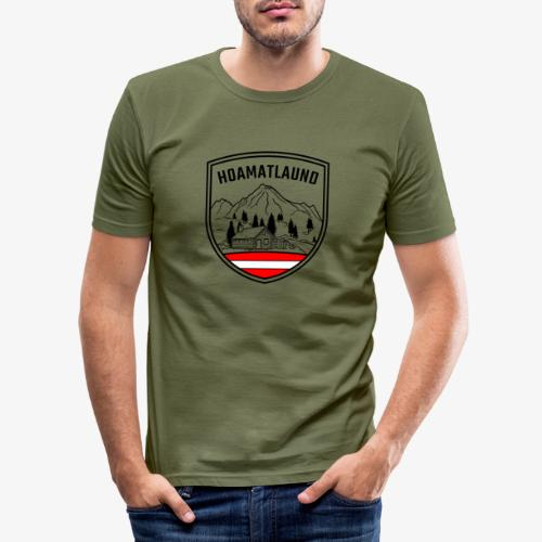 hoamatlaund logo - Männer Slim Fit T-Shirt