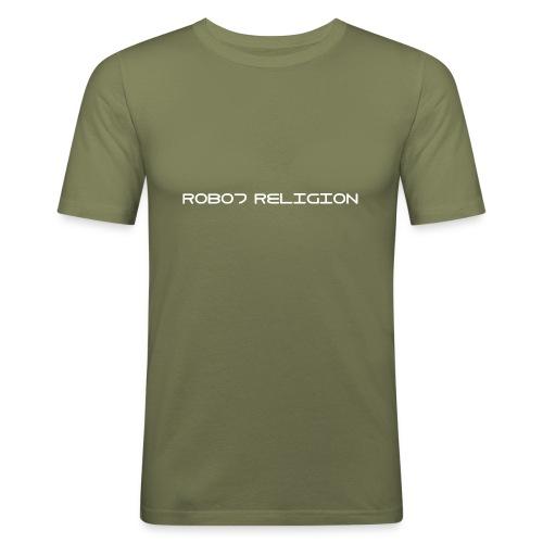 Robot Religion Text - Men's Slim Fit T-Shirt