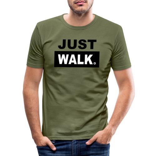 JUST WALK mannen zw - Mannen slim fit T-shirt