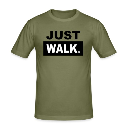 JUST WALK mannen zw - Mannen slim fit T-shirt