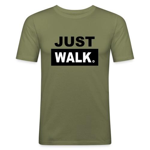 JUST WALK mannen zw - slim fit T-shirt