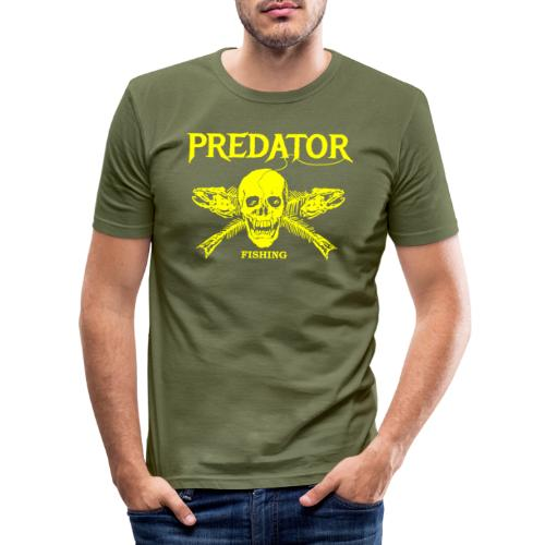 Predator fishing yellow - Männer Slim Fit T-Shirt