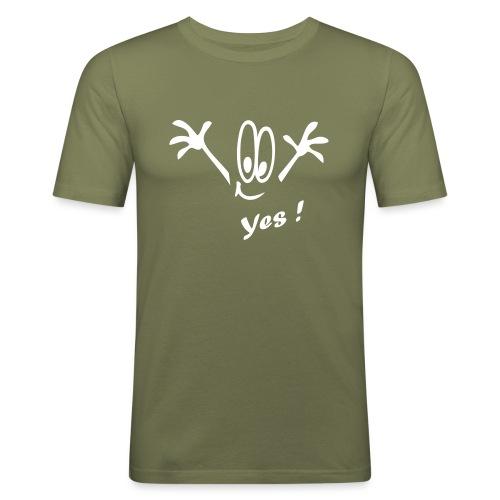 Yes ! Comic - Männer Slim Fit T-Shirt