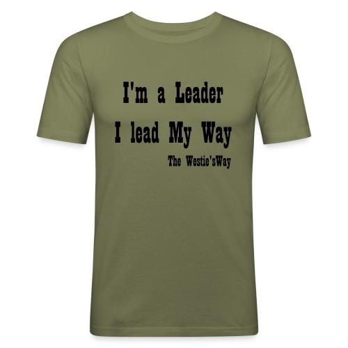 I lead My Way Black - Obcisła koszulka męska