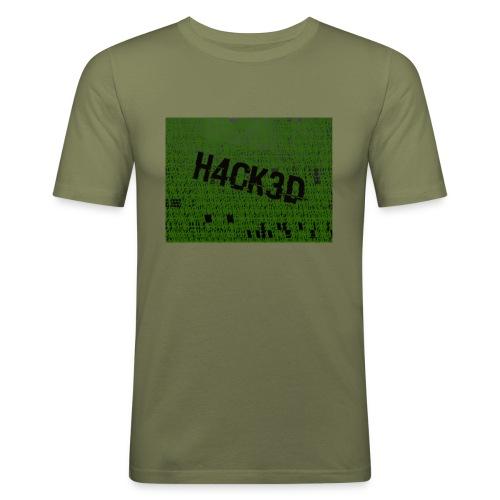 H4CK3D - Männer Slim Fit T-Shirt