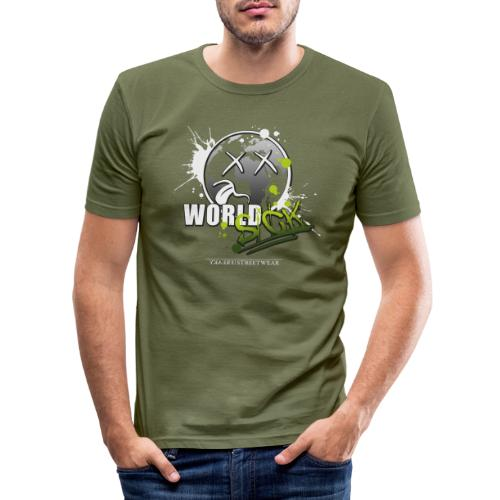 world sick - Männer Slim Fit T-Shirt