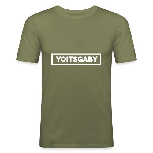 YoIsGaby T-Shirt Wit // man - Mannen slim fit T-shirt