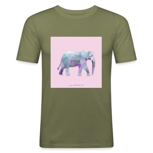 Elefante Intero triangoli - Maglietta aderente da uomo
