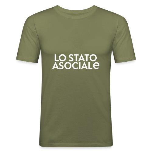 T-Shirt Logo Nera - Maglietta aderente da uomo
