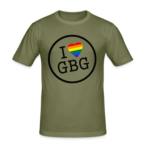 I Love Gbg - tygkasse - Slim Fit T-shirt herr