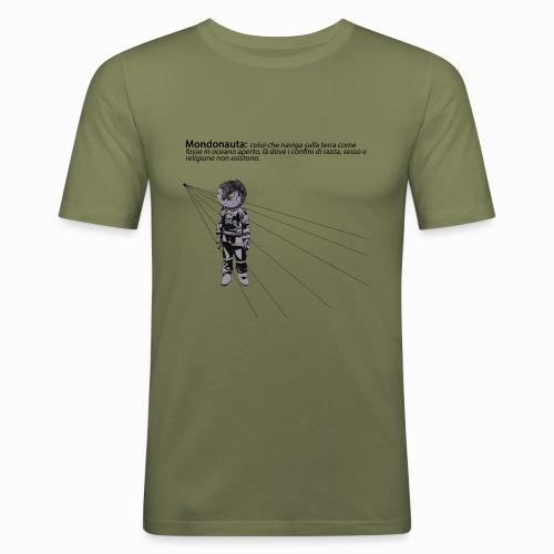 Mondonauta - Maglietta aderente da uomo
