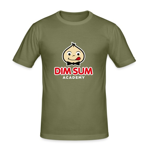 Dim Sum Academy Logo blanc - T-shirt près du corps Homme