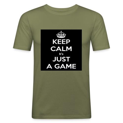 Det är bara ett spel - Slim Fit T-shirt herr