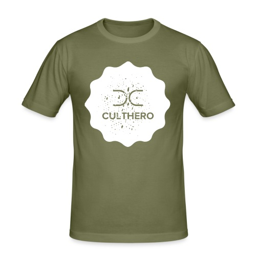 Cult Hero- Hero Gear White Logo Collection - Men's Slim Fit T-Shirt
