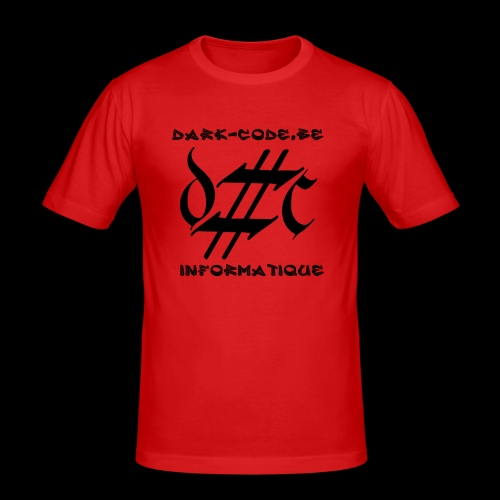 Dark-Code Black Gothic Logo - T-shirt près du corps Homme