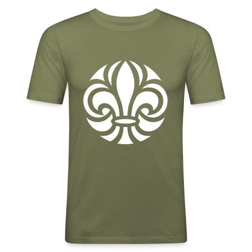 Scouterna-symbol_white - Slim Fit T-shirt herr
