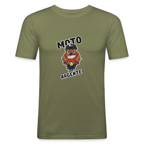 moto argente - T-shirt près du corps Homme