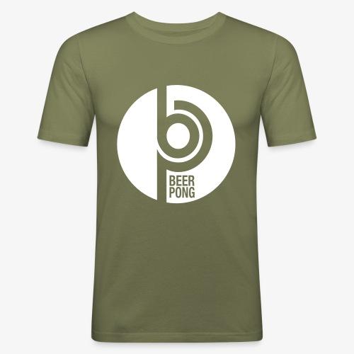 Beer Pong Kreis - Männer Slim Fit T-Shirt