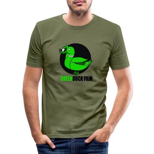 Greenduck Film Logo w. black letters - Herre Slim Fit T-Shirt
