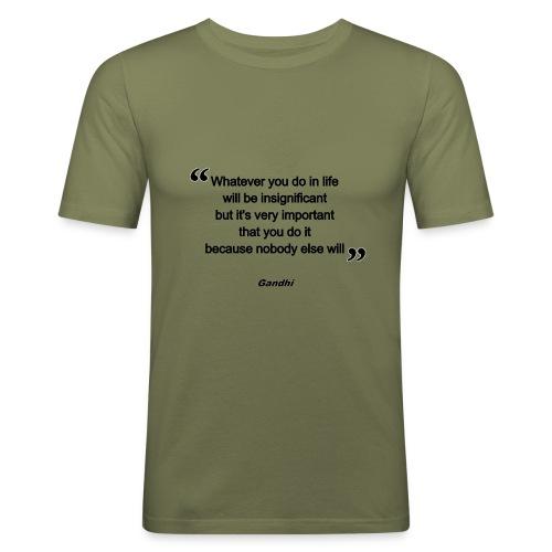 gandhi - T-shirt près du corps Homme