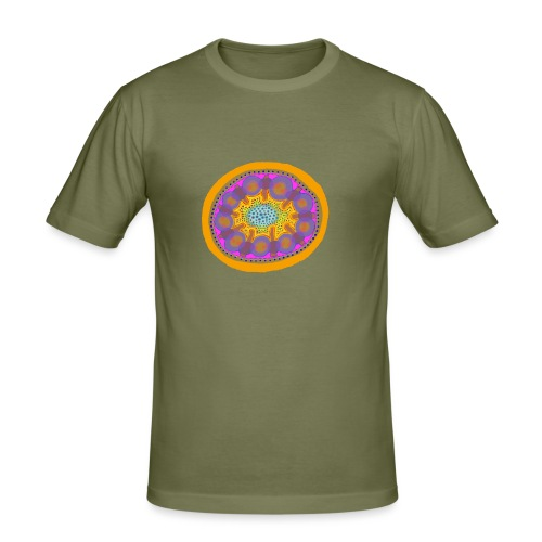 Mandala Pizza - Men's Slim Fit T-Shirt