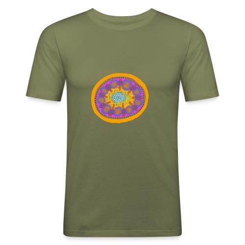Mandala Pizza - Men's Slim Fit T-Shirt