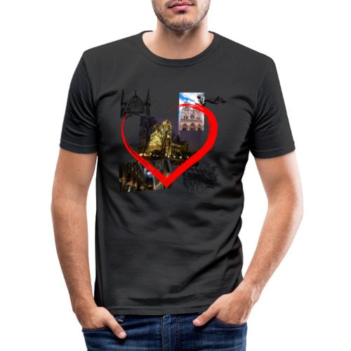 Notre Dame de Paris - Männer Slim Fit T-Shirt