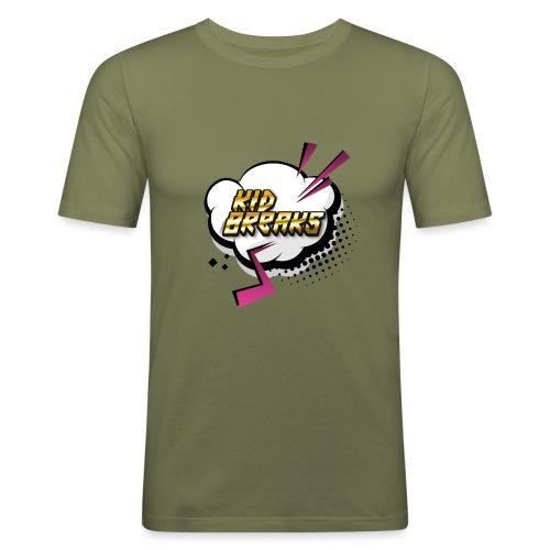 Kid Breaks Flash Art Logo - Men's Slim Fit T-Shirt
