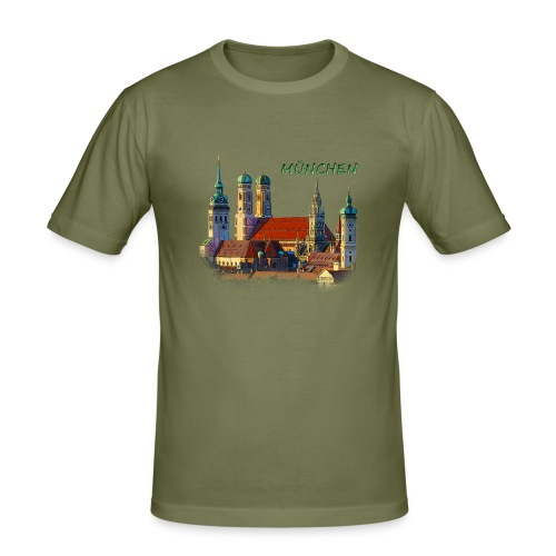 München Frauenkirche - Männer Slim Fit T-Shirt
