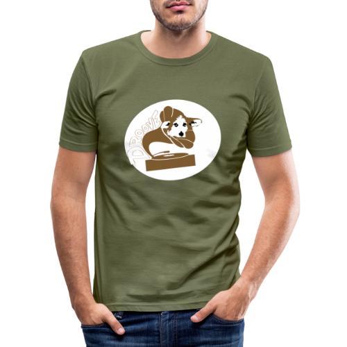 Droove logo - Mannen slim fit T-shirt