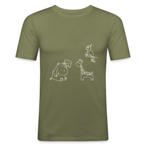Ein Nilpferd muss aufs WC - Männer Slim Fit T-Shirt