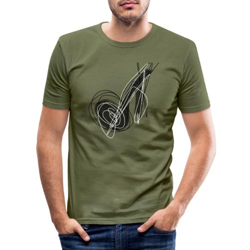 MUSIC NOTE ABSTRACT - Männer Slim Fit T-Shirt