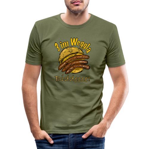 3imWeggla - Männer Slim Fit T-Shirt