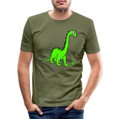 dinosauro - Maglietta aderente da uomo